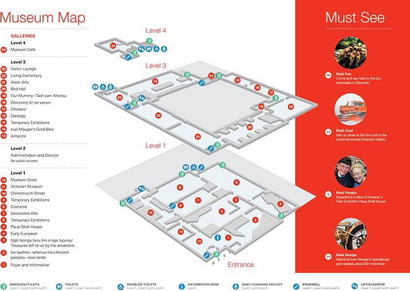 #1 Canterbury Museum (坎特伯雷博物館):博物館地圖