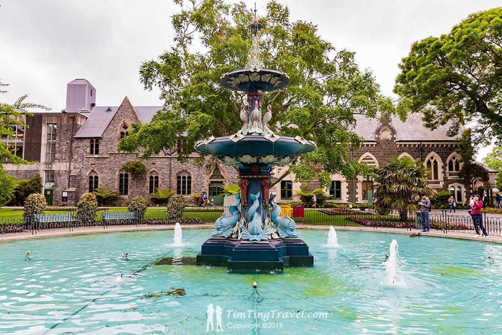 #2 Christchurch Botanic Garden (基督城植物園):Peacock Fountain (孔雀噴泉)