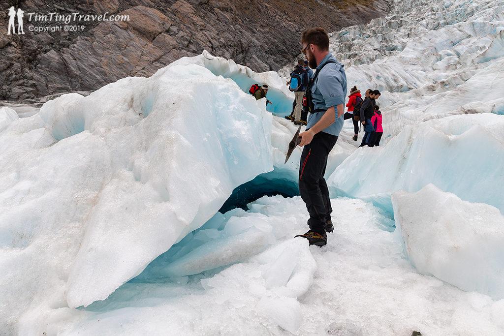 Fox Glacier 上熱門景點才會和其他旅客排隊欣賞