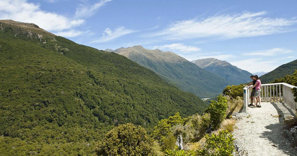 Fox Glacier 到 Wanaka 沿途景點 - #4.6 Haast Pass Lookout (哈斯特隘口觀景台)