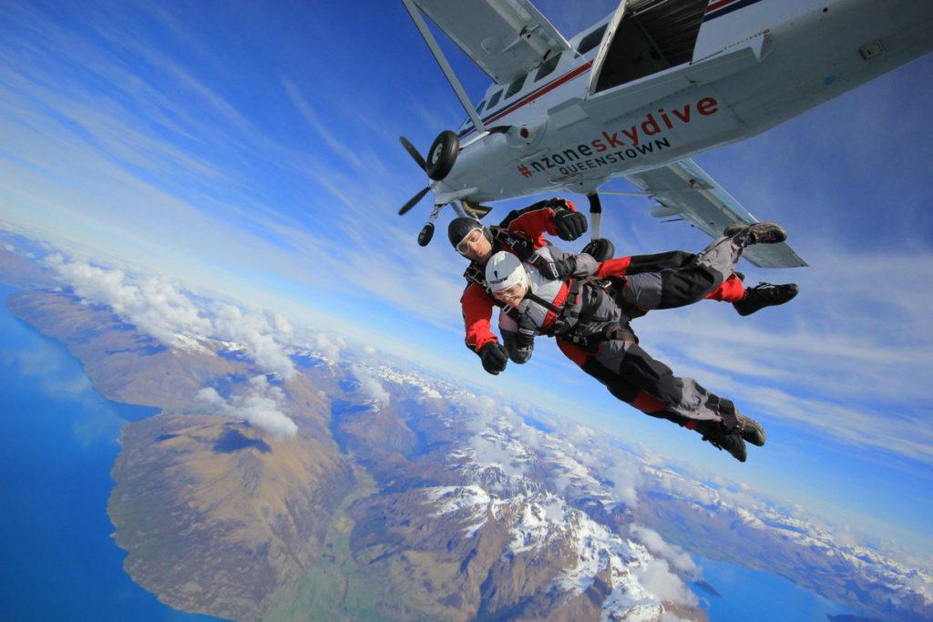 皇后鎮 必遊景點#7-1:Queenstown Nzone Skydive - 最具歷史的跳傘地點