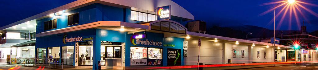 紐西蘭中小型地方超市代表 freshchoice : 超市外觀