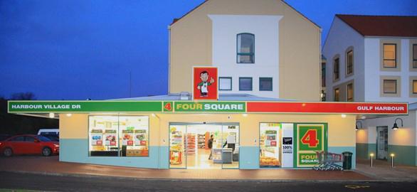 紐西蘭分店最多的小型超市 Four Square : 超市外觀