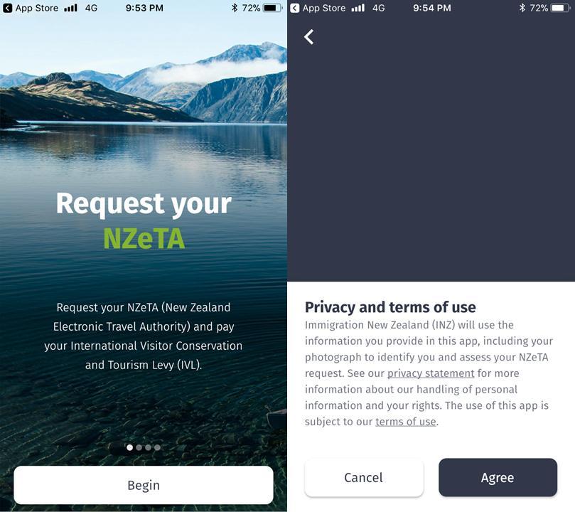 紐西蘭電子簽證 - App 申請教學 Step2