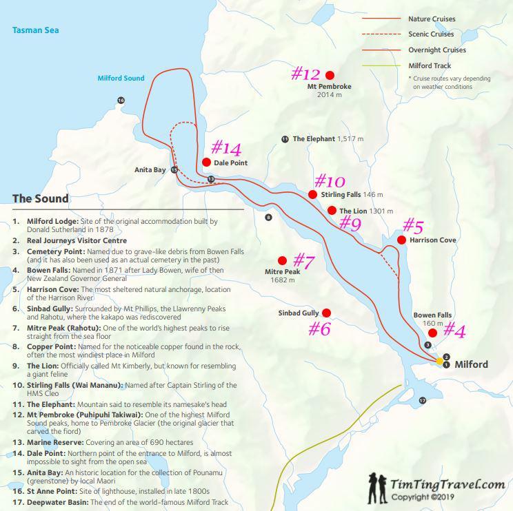 Real Journeys 航線 & Milford Sound 沿途景色