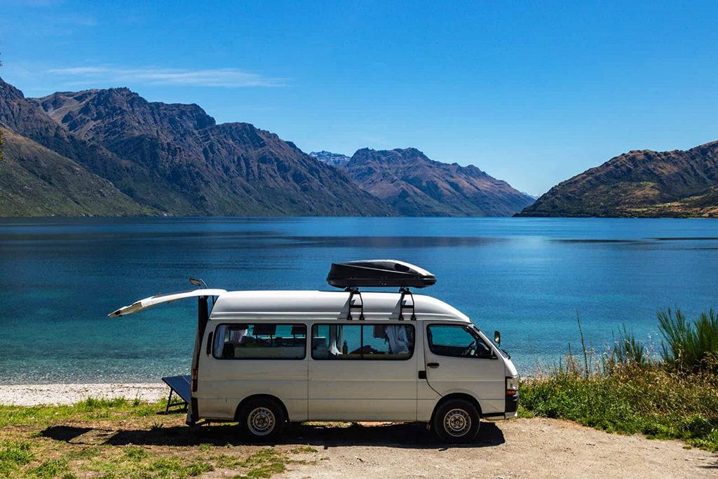 Queenstown 到 Te Anau 沿途景點 #2 - Kingston Lake Camp (金斯頓湖露營區)
