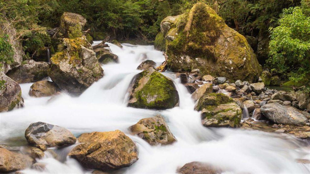 來回約20分鐘的 Lake Marian Falls (瑪麗安湖瀑布)