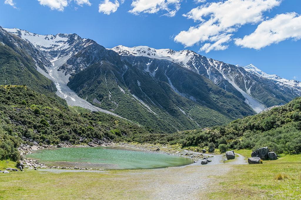 Tasman Lake Track (塔斯曼湖步道) 景點:Blue Lake (藍湖)