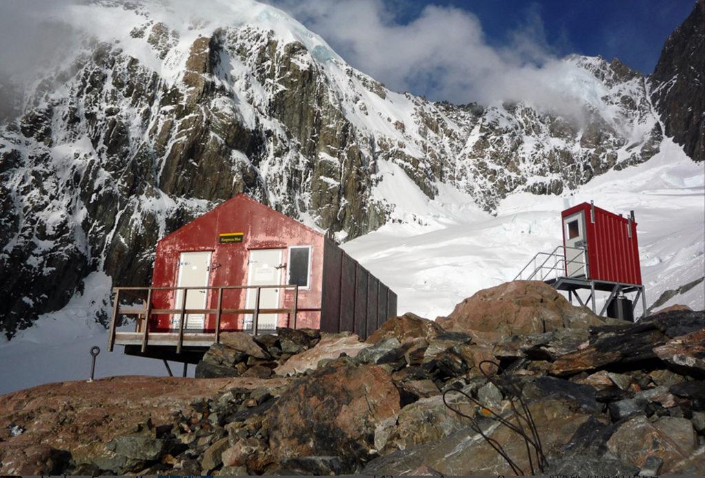 庫克山攻頂路線上的山屋 Empress Hut