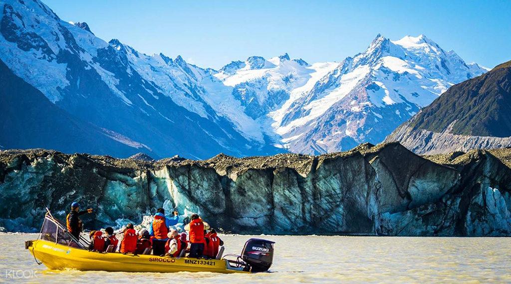 Mt. Cook 推薦步道 & 必遊景點 #5-2 - Tasman Glacier Explorers (冰河船)
