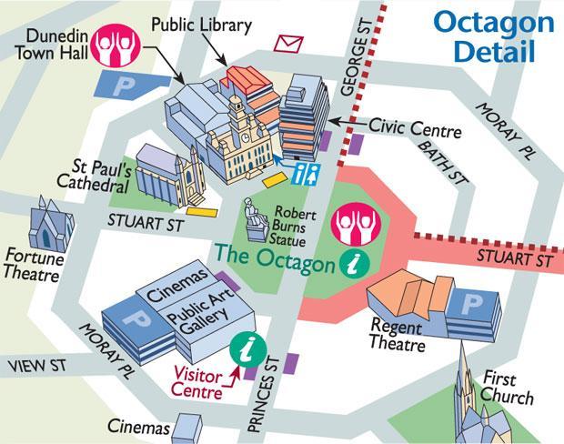 Dunedin 必遊景點 #1 - The Octagon (八角廣場)