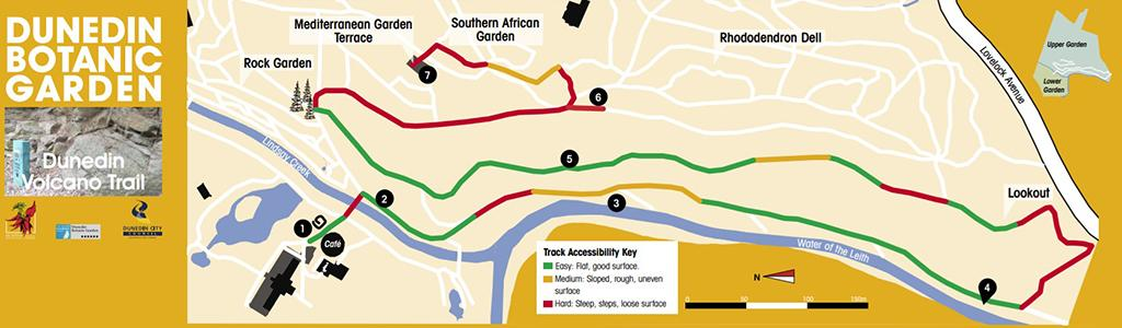 Dunedin Volcano Trail (火山小徑) 路線圖