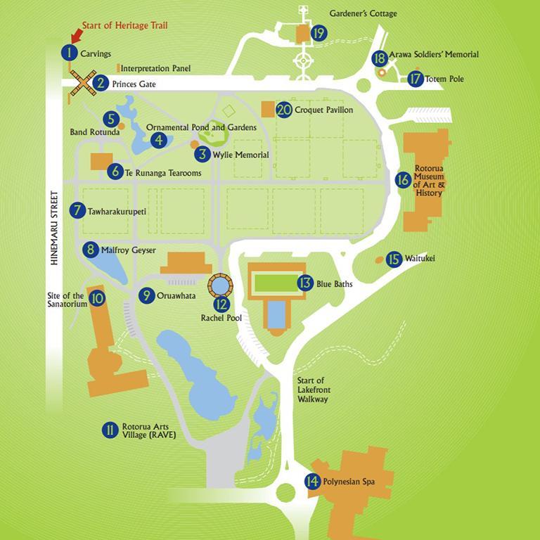 Government Gardens Map (政府花園景點地圖)
