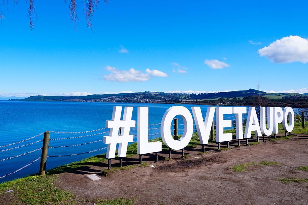 Taupo Lakefront Reserve (陶波湖岸前步道) 景點:#LoveTaupo