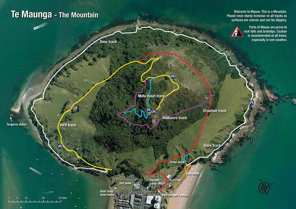 Mount Maunganui (芒格努伊山) 步道總覽