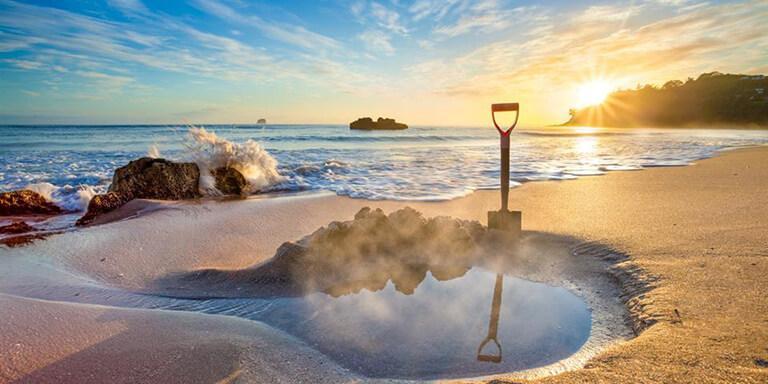 Coromandel 必遊景點 #2 - Hot Water Beach (溫泉海灘)